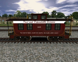 NERW Wood Caboose 1