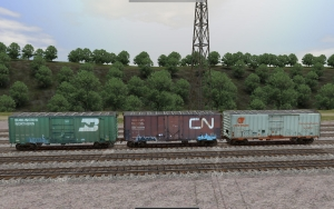 NERW 40ft ACF Prototype boxcar set