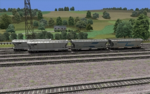 NS/ACFX/SMNX 3 Bay Covered Hopper set