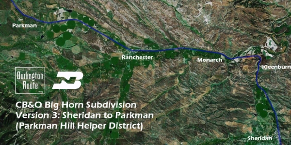 CB&Q Big Horn Subdivision Route by Michael Stephan