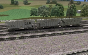 CSX 2 Bay Cement Hopper set