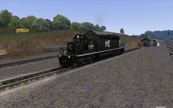 North Eastern SD40-2 in Black